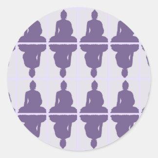 Lavanda Buda Etiqueta Redonda