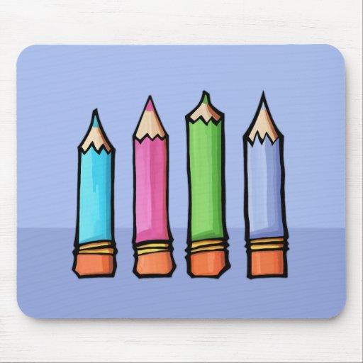 Lavanda coloreada Mousepad de los lápices Tapete De Ratón