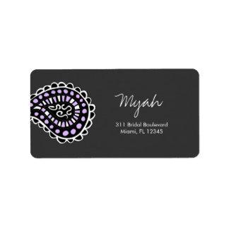 lavanda de 311-Myah Paisley Etiquetas De Dirección
