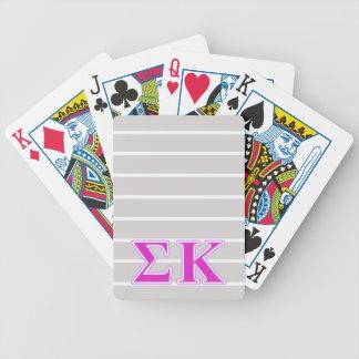 Lavanda de Kappa de la sigma y letras rosadas Baraja