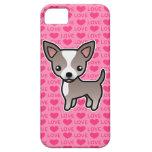 Lavanda de la chihuahua y corazones lisos blancos  iPhone 5 Case-Mate carcasa