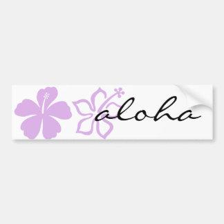 lavanda de la flor de la hawaiana del hibisco pegatina para auto