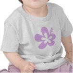 lavanda de la flor de la hawaiana del hibisco camisetas