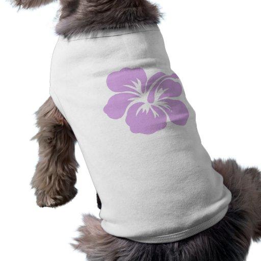 lavanda de la flor de la hawaiana del hibisco playera sin mangas para perro