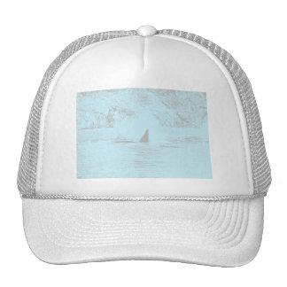Lavanda de la turquesa del dibujo de la natación d gorras de camionero