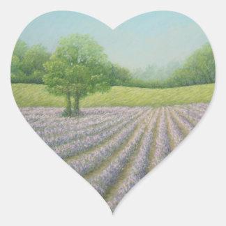 Lavanda de Mayfield en la floración, pegatinas de Pegatina En Forma De Corazón