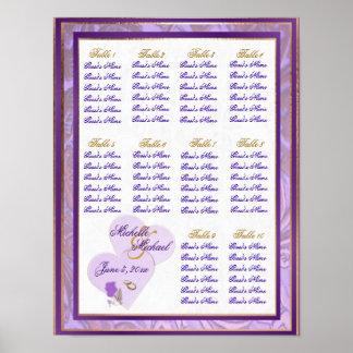 Lavanda de medida adaptable y carta púrpura del as posters