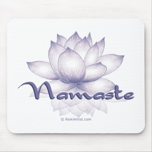 Lavanda de Namaste Lotus Tapete De Raton