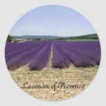 Lavanda de Provence Pegatina Redonda
