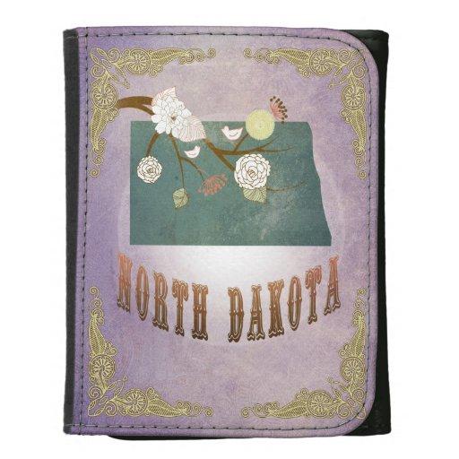 Lavanda del dulce del mapa del estado de Dakota de
