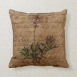 Lavanda del vintage en el papel de escribir apenad almohadas