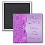 Lavanda e imán púrpura del favor del boda