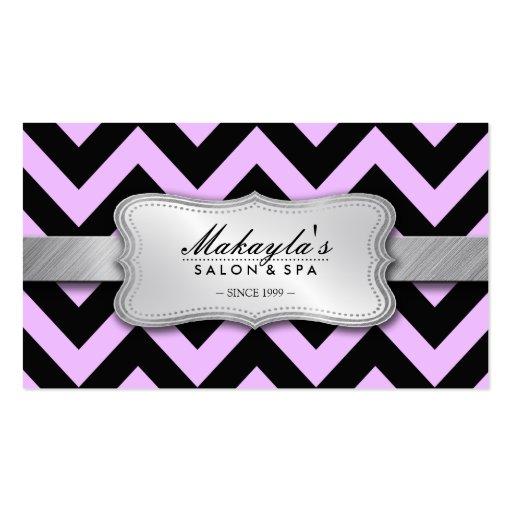 Lavanda en colores pastel elegante y modelo negro  tarjeta personal