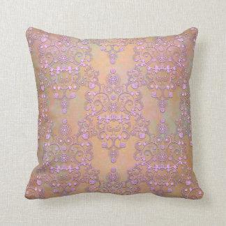 Lavanda en colores pastel sobre el damasco ameloco almohadas