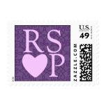 Lavanda en el sello de Purple Heart RSVP