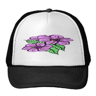 Lavanda floral gorra