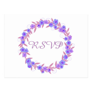 Lavanda floral RSVP de la guirnalda Postales