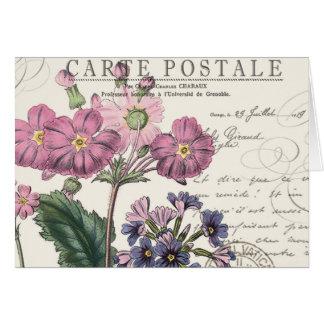 lavanda francesa del vintage moderno floral tarjeta pequeña