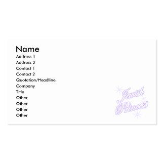 Lavanda judía de la princesa plantilla de tarjeta personal