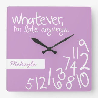 Lavanda - lo que, yo son atrasados de todos modos reloj