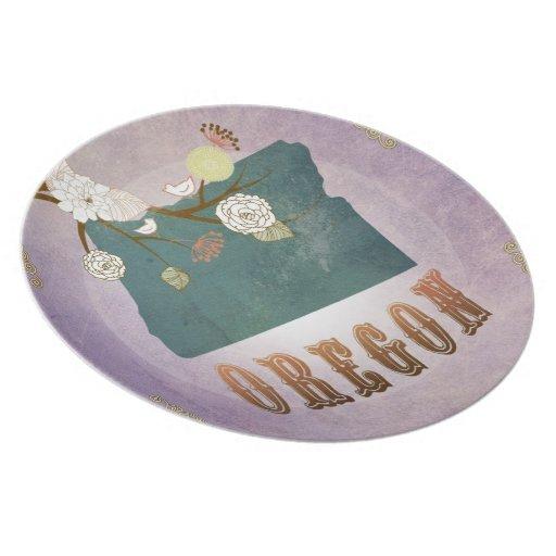 Lavanda moderna del dulce del mapa del estado de O Platos
