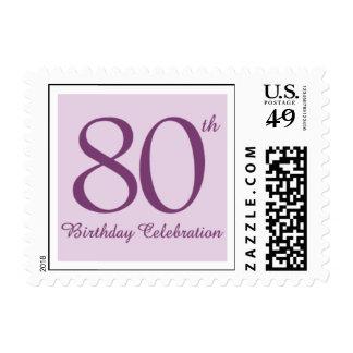Lavanda ochenta timbre postal