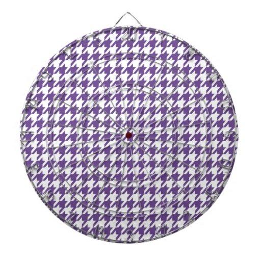 Lavanda oscura, Houndstooth púrpura Tablero Dardos