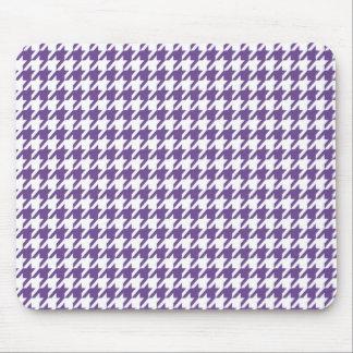 Lavanda oscura, Houndstooth púrpura Tapetes De Raton