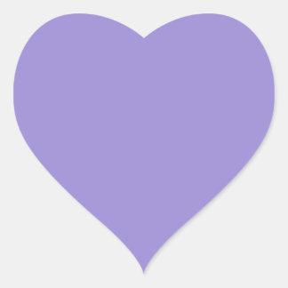 Lavanda Calcomanía Corazón