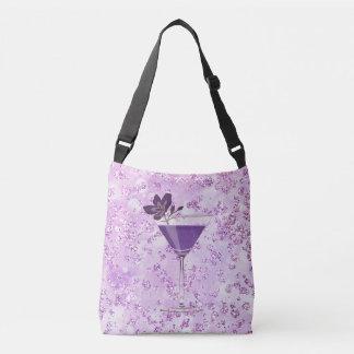 Lavanda púrpura Bokeh Bling del cóctel Bolsa Cruzada