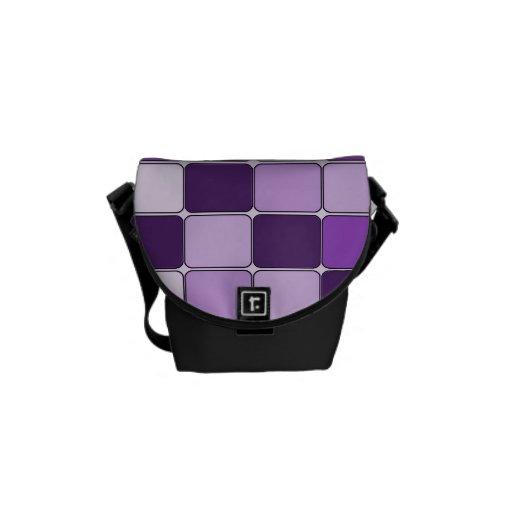 Lavanda púrpura de la lila de mosaico del modelo b bolsa messenger