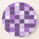 Lavanda púrpura de la lila de mosaico del modelo b posavasos para bebidas