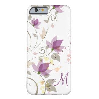lavanda púrpura femenina Monogra floral del caso