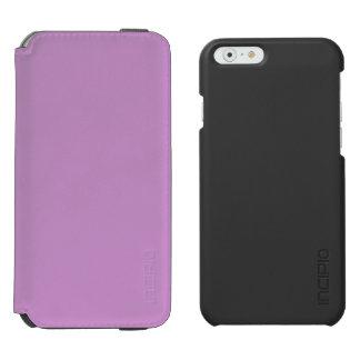 Lavanda púrpura funda billetera para iPhone 6 watson