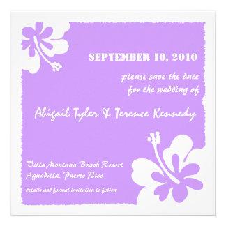 Lavanda - reserva tropical las tarjetas de fecha invitacion personal