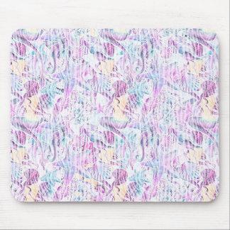 Lavanda y azul abstractos de las estrellas de mar tapete de ratones