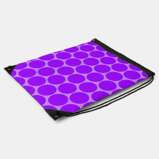 Lavanda y bolso púrpura del modelo de lunares mochila