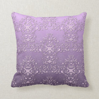 Lavanda y damasco de lujo del tono de la púrpura d cojines