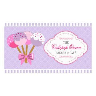 Lavanda y fucsia de la panadería de la reina de tarjetas de visita