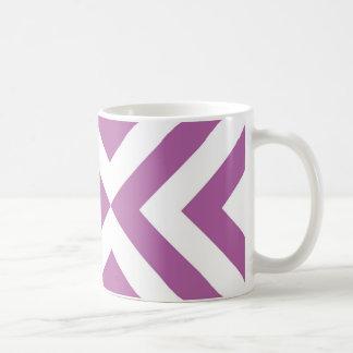 Lavanda y galones blancos tazas de café