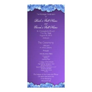 Lavanda y Hydrangeas azules que casan programa Tarjeta Publicitaria A Todo Color