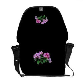 Lavanda y Hydrangeas color de rosa Bolsa Messenger