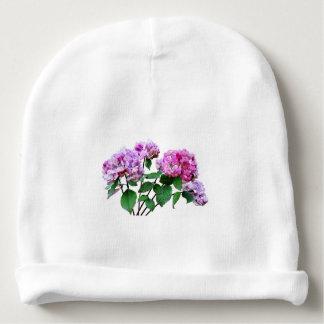 Lavanda y Hydrangeas color de rosa Gorrito Para Bebe