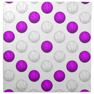 Lavanda y modelo blanco del baloncesto servilletas de papel