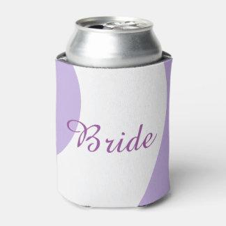 Lavanda y neverita de bebidas blanco de la novia enfriador de latas