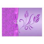 Lavanda y púrpura Jewelled casando la invitación