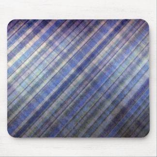 Lavanda y rayas azules del damasco alfombrillas de ratón