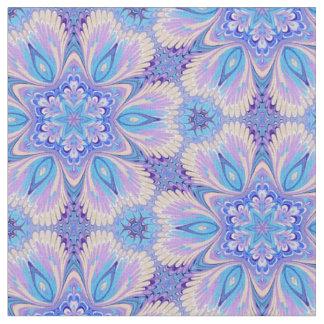Lavanda y tela azul del caleidoscopio telas
