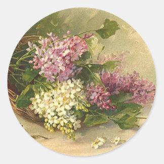 Lavander and White Beauty Sticker