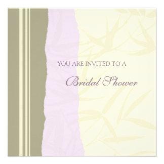 Lavander Cream Bridal Shower Invitation Cards